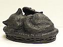 Our Angel Winged Kitty Cremation Urn - Black