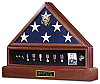 Presidential Urn, Flag and Medals Display Case