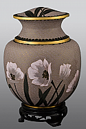 Poppy Field Cloisonne Adult Cremation Urn