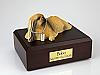 Pekingese Laying Dog Figurine Cremation Urn