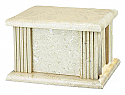 Rectangular Cream Wash Natural Marble Cremation Urn