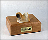 Lhasa Apso, Red Dog Figurine Cremation Urn