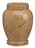 Adult Traditional Teakwood Marble Cremation Urns