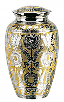 Adult Classic SilverGold Cremation Urn