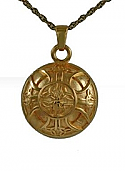 Gold celtic round jewelry Cremation Urn