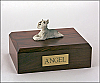 Schnauzer, Grey White Dog Figurine Cremation Urn