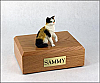 Calico, Shorthair Sitting Cat Figurine Cremation Urn