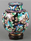Small Butterfly Cloisonne Cremation Urn