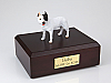 Pit Bull Terrier, White Dog Figurine Cremation Urn