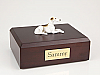 Greyhound, Brindle & White  Dog Figurine Cremation Urn