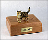 Tabby, Brown, Shorthair Standing Cat Figurine Cremation Urn
