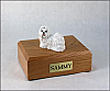 Shih Tzu, White Dog Figurine Cremation Urn