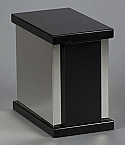 Black Granite Single Cremation Urn with Trim