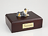 Australian Shepherd Laying Dog Figurine Cremation Urn