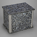 Blue Pearl Granite Double Cremation Urn with Trim