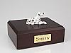 Dalmatian Black Spotted - White Dog Figurine Cremation Urn