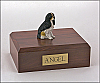 Cavalier, Tri-Color - Sitting Dog Figurine Cremation Urn