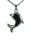 Dolphin with onyx stone pendant Cremation Urn