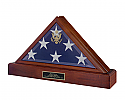 Presidential Pedestal Cremation Urn and Hinged Flag Case