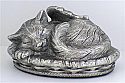 Silver Angel Winged Kitty Cremation Urn