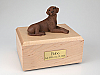 Labrador, Chocolate Laying Dog Figurine Cremation Urn