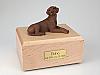 Labrador, Chocolate Laying Dog Figurine Cremation Urn