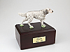 English Setter, Standing Dog Figurine Cremation Urn