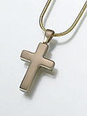 Brass Cross Keepsake Cremation Urn