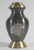 Autumn Leaves Brass Keepsake Cremation Urn