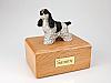 Cocker Spaniel, Spotted Black Standing  Dog Figurine Cremation Urn