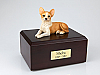 Chihuahua Laying Dog Figurine Cremation Urn