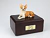 Chihuahua Laying Dog Figurine Cremation Urn
