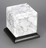 Small White Marble Cremation Urn