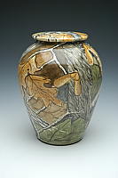 Hand-Painted Camo Cremation Urn