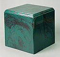 Regal Green Cultured Marble Adult Cremation Urn