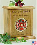 Fire Dept Recessed Medallion Cremation Urn