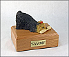 Yorkshire Terrier Playing Dog Figurine Cremation Urn