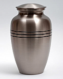 Classic Brass Cremation Urn with three Rings