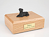 Labrador, Black Sleeping Dog Figurine Cremation Urn