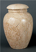 Grecian Travertine Adult Cremation Urn