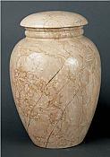 Grecian Travertine Adult Cremation Urn