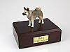 Norwegian Elkhound Standing Dog Figurine Cremation Urn