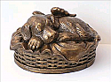 Angel Winged Dog Urn Bronze