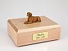 Vizsla Laying Dog Figurine Cremation Urn