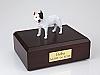 Pit Bull Terrier, White  Standing Dog Figurine Cremation Urn