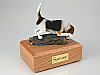Beagle Black-White Standing Dog Figurine Cremation Urn