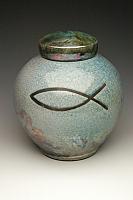 Ichthys Raku Cremation Urn