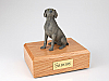 Weimaraner, Gray Dog Figurine Cremation Urn