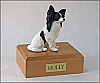 Papillon, Black Dog Figurine Cremation Urn
