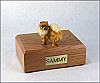 Pomeranian Standing Dog Figurine Cremation Urn
